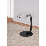 !nspire NYC Printed Glass Top End Table