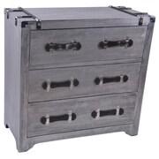 !nspire Aluminum Veneer 3 Drawer Cabinet