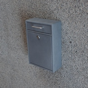 Mail Boss Locking Wall Mounted Mailbox; Granite