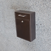 Mail Boss Locking Wall Mounted Mailbox; Bronze