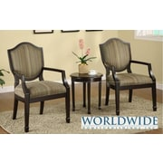 WorldWide HomeFurnishings 3 Piece Accent Chair And Table Set