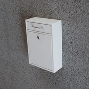 Mail Boss Locking Wall Mounted Mailbox; White