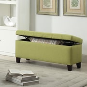 WorldWide HomeFurnishings Fabric Storage Ottoman; Green