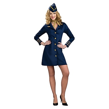 Costume d'agente de bord pour adulte, standard