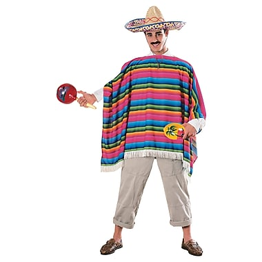 Costume de zarape mexicaine pour adulte, standard