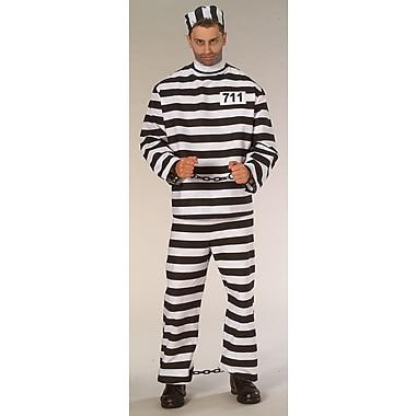 Costume de prisonnier pour adulte, X-grand
