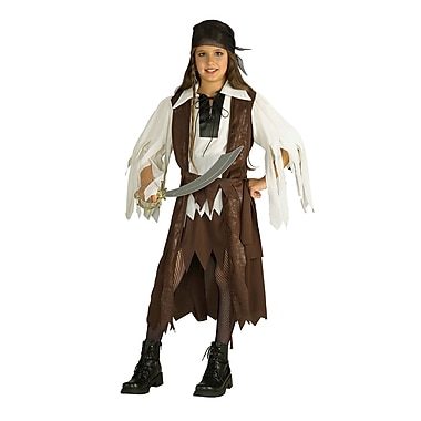 Child Caribbean Pirate Queen Costume, Large