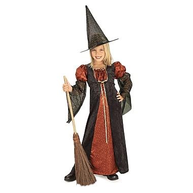 Costume de sorcière à paillettes pour enfant, moyen