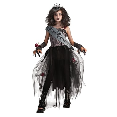 Child Gothic Prom Queen Costume, Medium