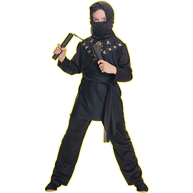 Child Black Ninja Costume, Small