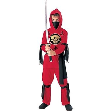 Costume de ninja pour enfant, rouge, moyen