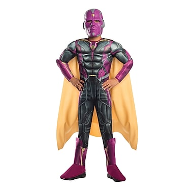 Child Deluxe Avengers 2 Vision Costume, Large