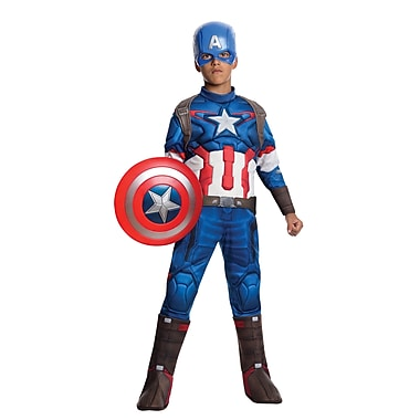 Child Deluxe Avengers 2 Captain America Costume, Medium
