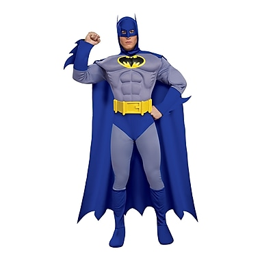 Adult Deluxe The Brave and the Bold Muscle Chest Batman Costume, Large