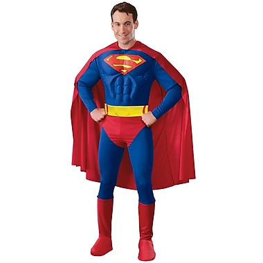 Adult Deluxe Muscle Chest Superman Costume, Medium
