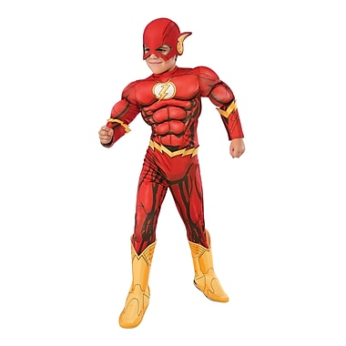Child Deluxe DC Comics Flash Costume, Large
