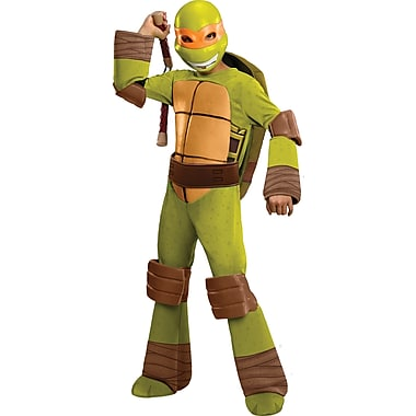 Child Deluxe Teenage Mutant Ninja Turtles Michelangelo Costume, Large
