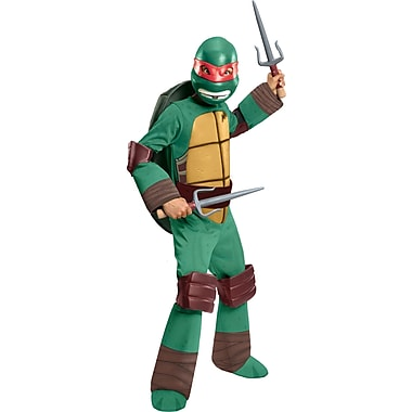 Child Deluxe Teenage Mutant Ninja Turtles Raphael Costume, Medium