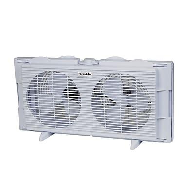 Forest Air – Ventilateur de fenêtre double de 7 po, blanchâtre