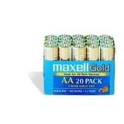 Maxell  Maxell Gold LR6 Alkaline Battery, AA, 20/Pack (723453)