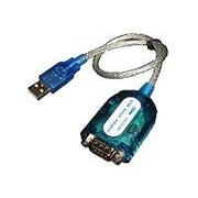 CP TECHNOLOGIES 1.22' USB 2.0 Type A to RS232 Serial Male/Male Data Transfer Cable, Blue/Silver (CP-US-03)