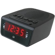 GPX ® C224B Dual Alarm AM/FM Clock Radio, Black