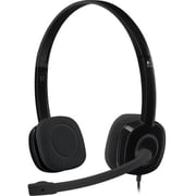 Logitech H151 981-000587 Wired Binaural Black Headset