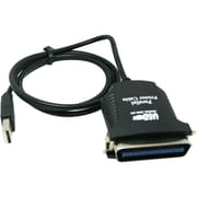 4XEM™ 6' USB to Parallel Male/Male Data Transfer Cable, Black