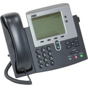 Cisco-IMSourcing IMS SPARE Unified 7940G IP Phone, Cable, Desktop, Wall Mountable, Dark Gray, Silver