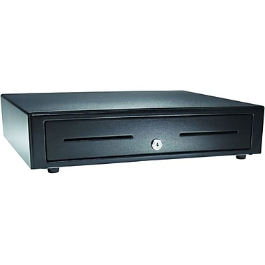APG VB554A-BL1616 Vasario Series Standard-Duty Painted-Front Cash Drawer with USB Interface, 24V, , Black