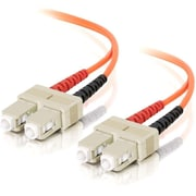 C2G ® 09113 1 m SC Male/Male 62.5/125 OM1 Duplex Multimode Fiber Optic Cable, Orange
