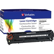 Verbatim® 98340 Black 8500 Pages Yield Remanufactured Toner Cartridge for HP Color LaserJet CP4025/4525 Laser Printer