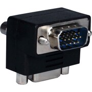 QVS VGA HD15 Down-Angle Male to Female Video Adaptor (CC388A-MFD)
