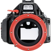 Olympus Black/Red Polycarbonate/Glass Camera Underwater Housing Case (PT-EP13)