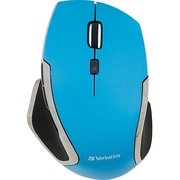 Verbatim ® 99016 USB Wireless Notebook 6-Buttons Deluxe Blue LED Mouse, Blue