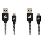 Iogear Charge & Sync Pro 6.5' USB to Lightning Data Transfer Cable, Black, 2/Pack