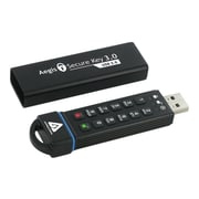 Apricorn Aegis Secure Key 3.0 30GB 195/162 Mbps SuperSpeed USB 3.0 Flash Drive, Black (ASK3-30GB)