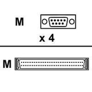 Digi 76000560 4-Port DB-9 Male/HD-68 Male Serial/SCSI Network Adapter