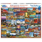 "White Mountain Puzzles Jigsaw Puzzle 1000 Pieces 24""X30"", Best Places In America (WM1119PZ"