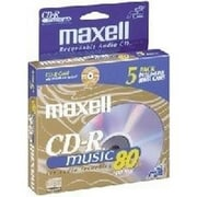 Maxell  700MB 32x Music CD-R Media, 5/Pack (625132)