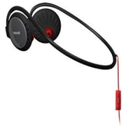 Maxell  (192008) Pure Fitness PFIT-4 Wired Stereo Neckband Headset, Black/Red