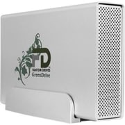 MicroNet Fantom Drives  GreenDrive GD2000QU3 2TB USB 3.0Quad External Hard Drive, White