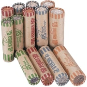 Royal Sovereign Assorted Preformed Coin Wrapper, Multicolor, 216/Pack (FSW-216N)
