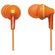 Panasonic RP-HJE125 Wired Earbud Stereo Headphones, Orange