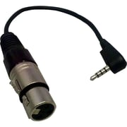 "Comprehensive® MPS4RA-XLRJ 6"" TRRS 3.5 mm Mini/XLR Male/Female Audio Cable, Black"