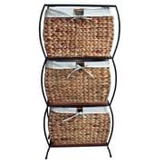 Pangaea Seagrass Basket Storage Pangaea Rattan 3 Drawer File Cabinet