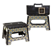 Seda France 1-Step Diamond Plastic Folding Step Stool with 200 lb. Load Capacity ; Royal Noir