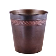 Fashion Home 3-Gal. Modern Chain Round Steel Wastebasket