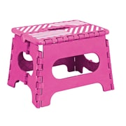 Simplify 1-Step Plastic Folding Step Stool with 200 lb. Load Capacity ; Fuchsia