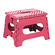 Simplify 1-Step Plastic Folding Step Stool with 200 lb. Load Capacity ; Red